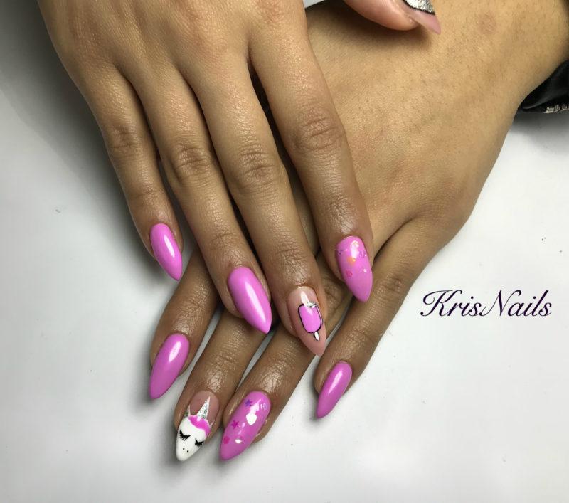 ημιμονιμο μανικιουρ nail art spring