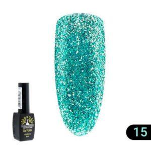 Ημιμόνιμο Βερνίκι Global Fashion Shine 8ml 15