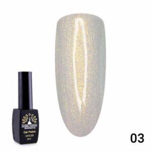 Global Fashion Gel Polish Black Elite 8ml Pearl 03