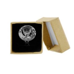 Γυάλινο δαχτυλίδι κόλλας βλεφαρίδων